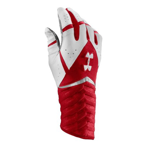 Mens Under Armour UA Highlight Batting Glove Handwear - Red/White L