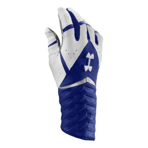Mens Under Armour UA Highlight Batting Glove Handwear - Royal/White M