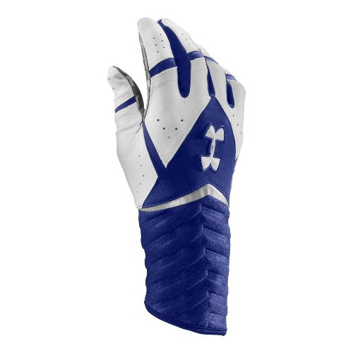 Mens Under Armour UA Highlight Batting Glove Handwear - Royal/White S