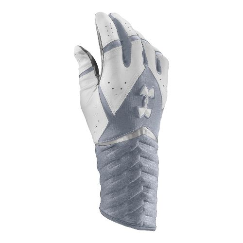 Mens Under Armour UA Highlight Batting Glove Handwear - Steel/White XL