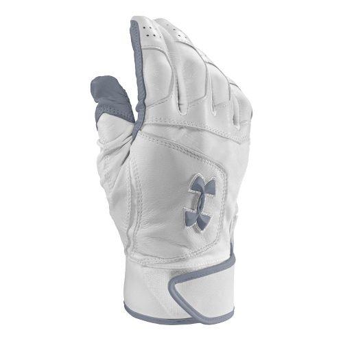 Mens Under Armour UA Epic Batting Glove Handwear - White/Royal M