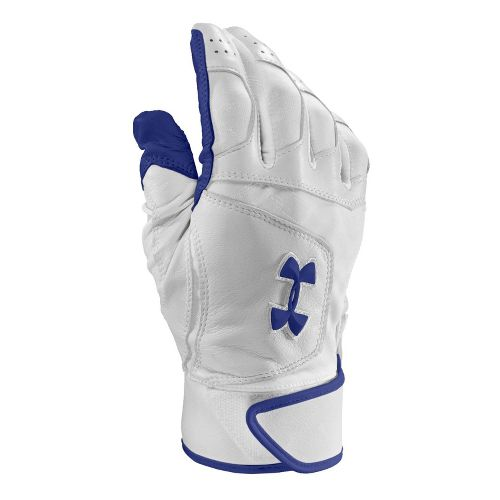 Mens Under Armour UA Epic Batting Glove Handwear - White/White M
