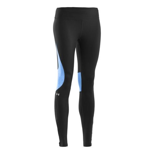 Womens Under Armour UA ColdGear Run Fitted Tights - Black L