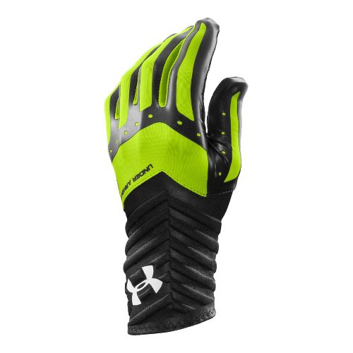 Mens Under Armour UA Motive Underglove Handwear - Black/Hyper Green S