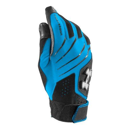 Womens Under Armour UA Radar Fastpitch Batting Glove Handwear - Electric Blue/Black M