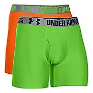 "Mens Under Armour HeatGear 6"" 2-pack Boxer Brief Underwear Bottoms"