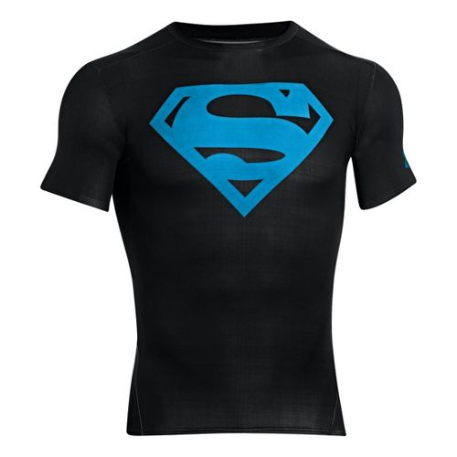 Mens Under Armour Alter Ego Compression Short Sleeve Technical Tops - Black/Capri L