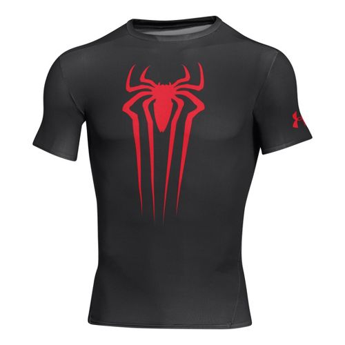 Mens Under Armour Alter Ego Compression Short Sleeve Technical Tops - Black/Red XXL