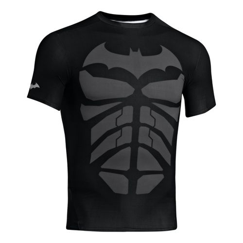 Mens Under Armour Alter Ego Compression Short Sleeve Technical Tops - Black/Steel XXL