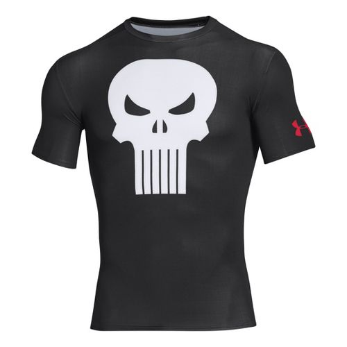 Mens Under Armour Alter Ego Compression Short Sleeve Technical Tops - Black/White XL