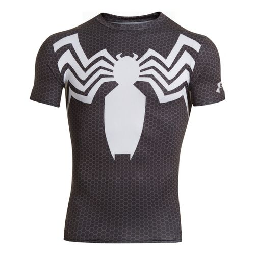 Mens Under Armour Alter Ego Compression Short Sleeve Technical Tops - Black/White/Grey L
