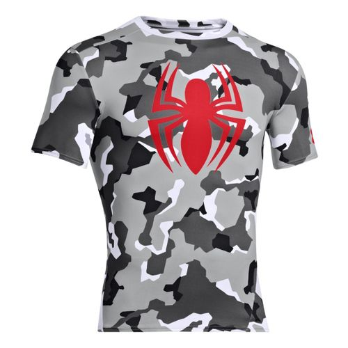 Mens Under Armour Alter Ego Compression Short Sleeve Technical Tops - Grey/Black M