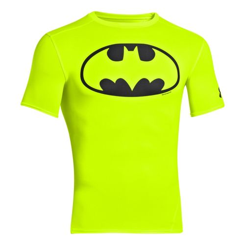 Mens Under Armour Alter Ego Compression Short Sleeve Technical Tops - High Vis Yellow/Black L ...