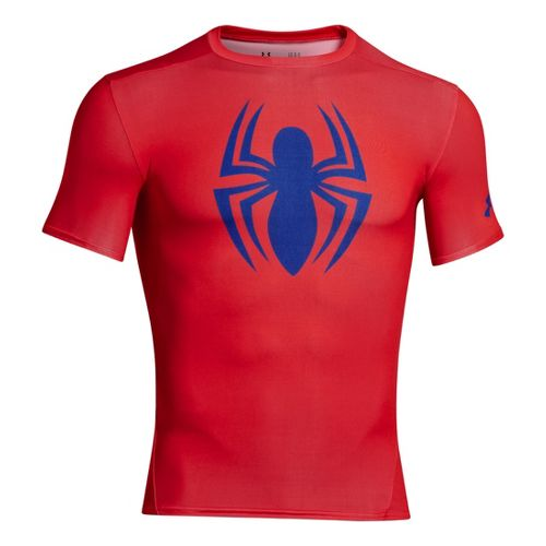 Mens Under Armour Alter Ego Compression Short Sleeve Technical Tops - Red/Royal S