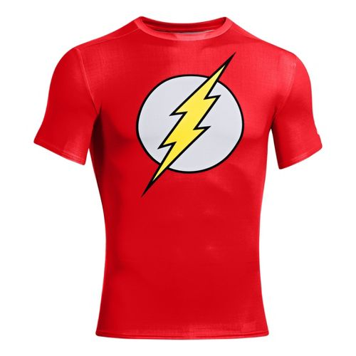 Mens Under Armour Alter Ego Compression Short Sleeve Technical Tops - Red/Taxi L