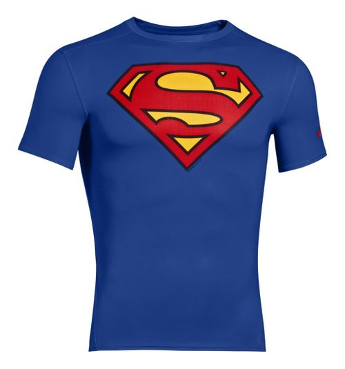 Mens Under Armour Alter Ego Compression Short Sleeve Technical Tops - Royal/Red XXXL