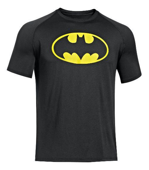 Mens Under Armour Alter Ego Batman T Short Sleeve Technical Tops - Black/Gold L