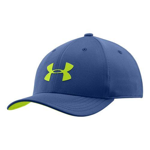 Kids Under Armour Boys UA Headline Stretch Fit Cap Headwear - American Blue S/M
