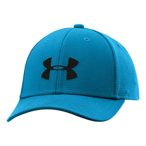 Kids Under Armour Boys UA Headline Stretch Fit Cap Headwear - Pirate Blue/Black S/M