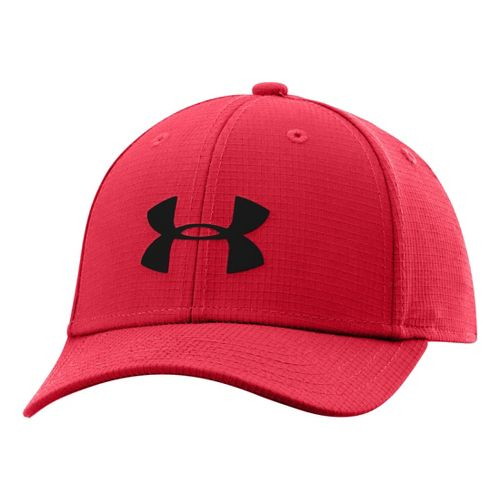 Kids Under Armour Boys UA Headline Stretch Fit Cap Headwear - Red/Black S/M