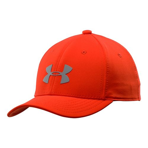 Kids Under Armour Boys UA Headline Stretch Fit Cap Headwear - Volcano S/M