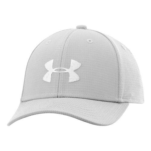 Kids Under Armour Boys UA Headline Stretch Fit Cap Headwear - White/White S/M