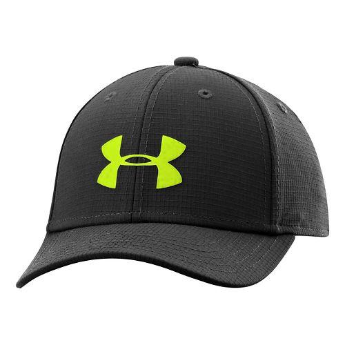 Kids Under Armour Boys UA Headline Stretch Fit Cap Headwear - American Blue XS/S