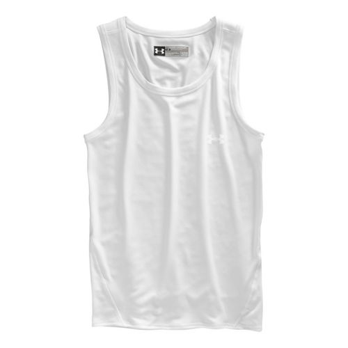 Mens Under Armour Original Series Tanks Technical Tops - White L