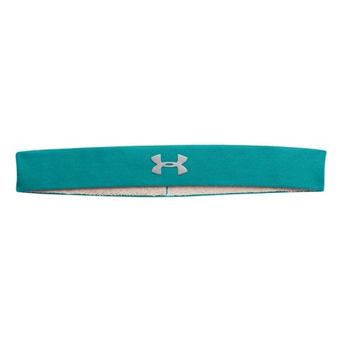 Womens Under Armour UA Power Thru Headband Headwear - Aquaduct