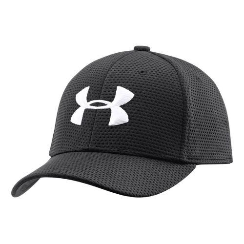 Kids Under Armour Boys UA Blitzing Stretch Cap Headwear - Black/White S/M