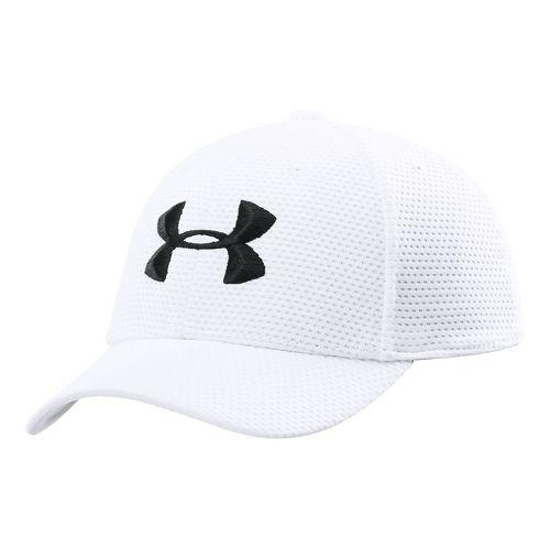 Kids Under Armour Boys UA Blitzing Stretch Cap Headwear - White/White S/M