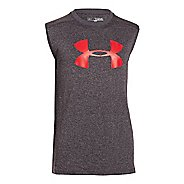 Kids Under Armour Boys UA Tech Big Logo Sleeveless T-shirt Technical Tops