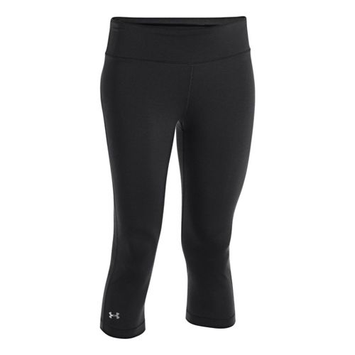 Womens Under Armour UA Divvy Fitness Capris - Black XL