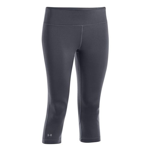 Womens Under Armour UA Divvy Fitness Capris - Lead M