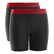 Kids Under Armour Boys HeatGear Boxerjock 2 Pack Boxer Brief Underwear Bottoms