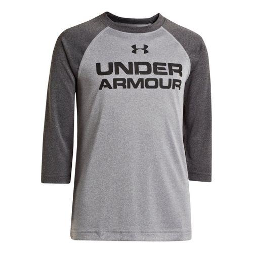Kids Under Armour Boys Baseball T 3/4 Long Sleeve No Zip Technical Tops - True ...