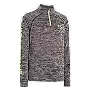 Kids Under Armour Boys Tech 1/4 Zip Long Sleeve 1/2 Zip Technical Tops