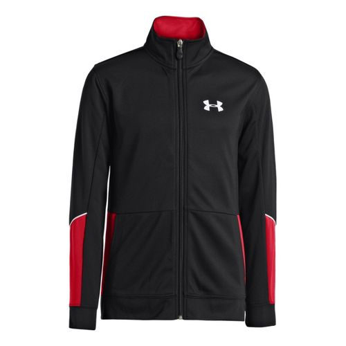 Kids Under Armour Boys Hero Running Jackets - Black/Red M