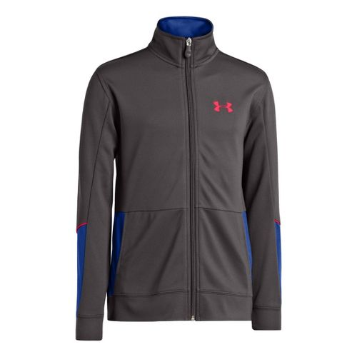 Kids Under Armour Boys Hero Running Jackets - Charcoal/Royal XS