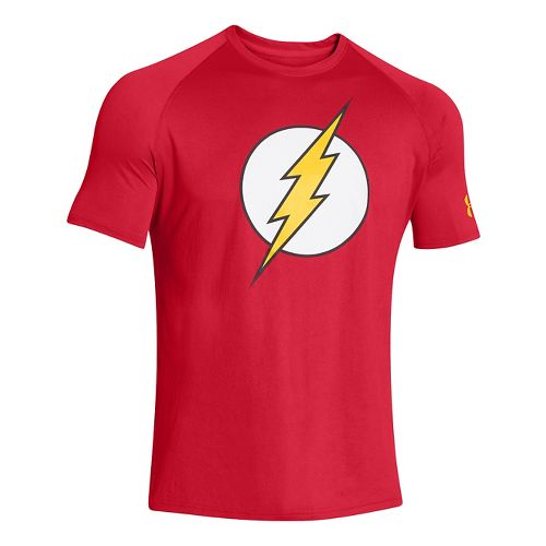 Mens Under Armour Alter Ego Core Flash T Short Sleeve Technical Tops - Red/Taxi L ...