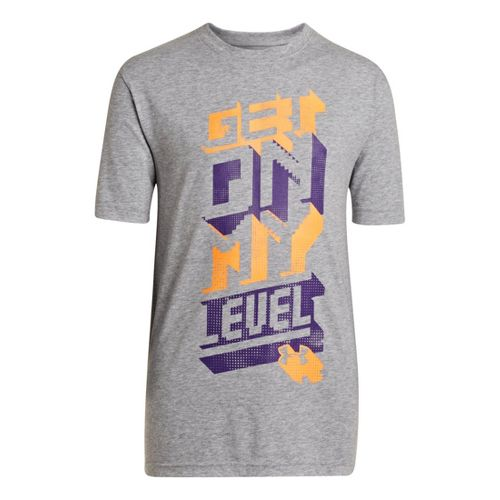 Kids Under Armour Boys Get On My Level T Short Sleeve Technical Tops - True ...