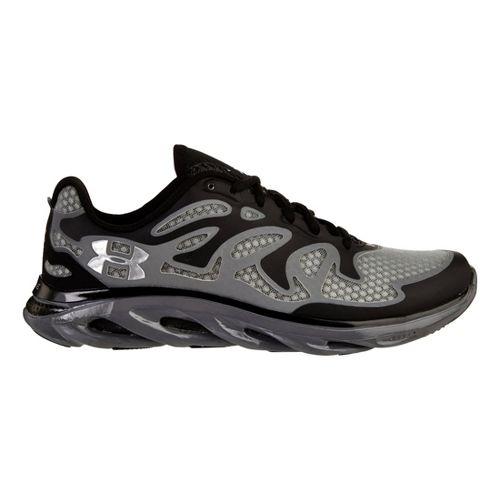 Mens Under Armour Micro G Spine Evo Running Shoe - Black/Graphite 14