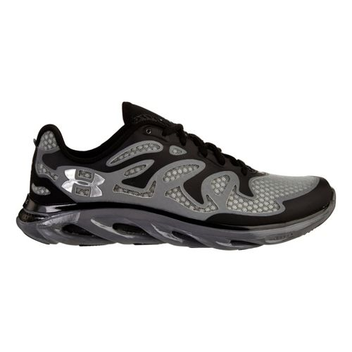 Mens Under Armour Micro G Spine Evo Running Shoe - Black/Graphite 9.5