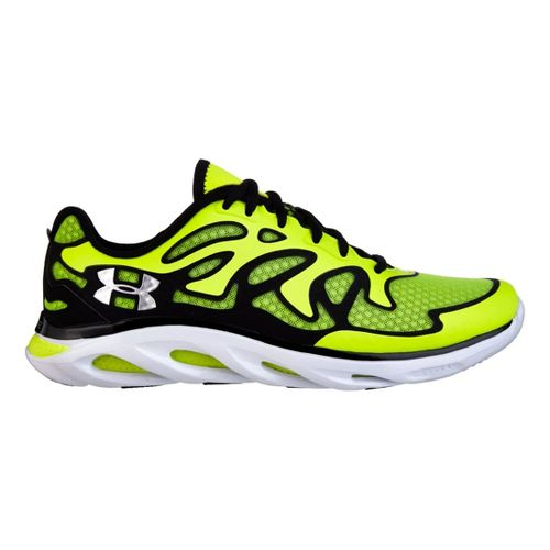 Mens Under Armour Micro G Spine Evo Running Shoe - High Vis Yellow/Black 10.5