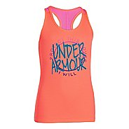 Kids Under Armour Girls Graphic Victory Tank Short Sleeve Technical Tops