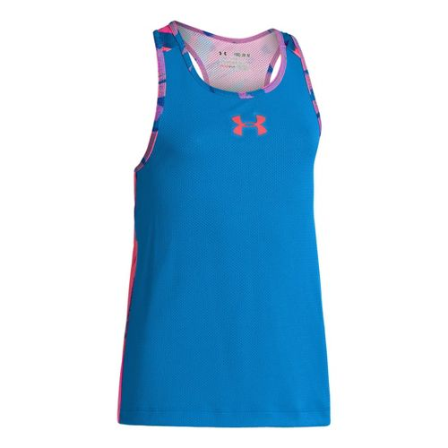 Kids Under Armour Girls Party In The Back Pinney Tanks Technical Tops - Electric ...