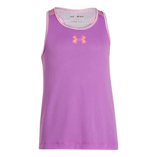 Kids Under Armour Girls Party In The Back Pinney Tanks Technical Tops - Exotic Bloom/Brilliance ...