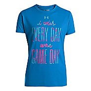 Kids Under Armour Girls I Wish T Short Sleeve Technical Tops