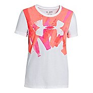 Womens Under Armour Girls Splatter Graphic T Short Sleeve Technical Tops