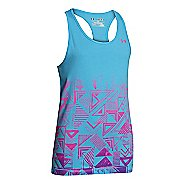 Kids Under Armour Girls Branded Graphic Tanks Technical Tops